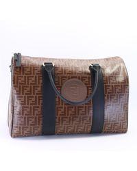 Fendi - All-over Logo Jacquard Travel Bag - Lyst