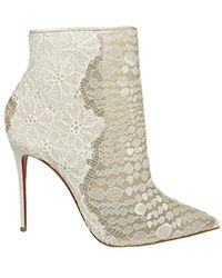 Christian Louboutin Gipsybootie Ankle Boots - White