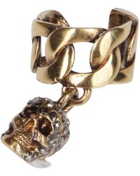 Alexander McQueen Skull Ear Cuff - Metallic