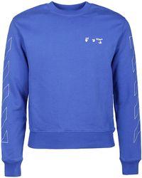 Off-White c/o Virgil Abloh Logo Printed Sweatshirt - Blue