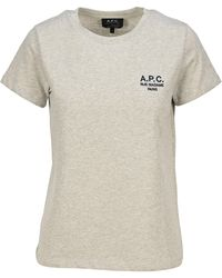 A.P.C. Denise Logo Embroidered T-shirt - Natural