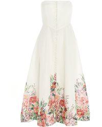 Zimmermann Bellitude Strapless Bustier Mini Dress - White