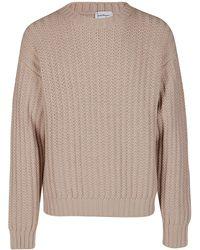 Ferragamo Crewneck Knitted Jumper - Natural