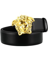Versace Medusa Buckle Belt - Black
