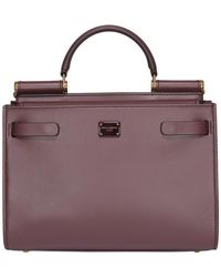 Dolce & Gabbana Small Sicily Top Handle Shoulder Bag - Purple