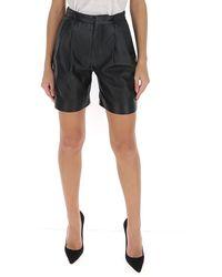 RED Valentino Redvalentino Pleated Shorts - Black