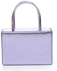 AMINA MUADDI Amini Gilda Rainbow Crystal Tote Bag - Purple