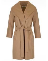 Max Mara Belted Coat - Natural