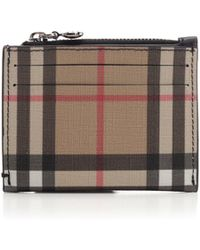 Burberry - Vintage Check Zipped Card Case - Lyst