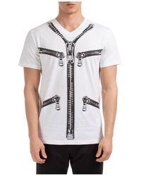 Moschino Men's Short Sleeve T-shirt Crew Neckline Jumper Regular Fit - White