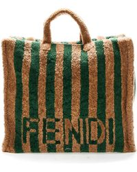 Fendi Logo Tote Bag - Green