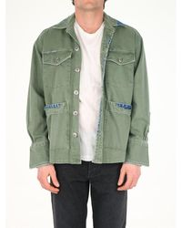 Greg Lauren Military Green Oversize Shirt