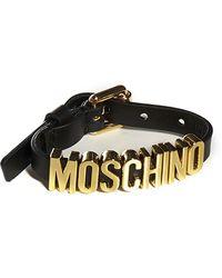 Moschino Logo Leather Bracelet - Multicolor