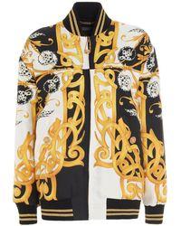 Versace Acanthus Print Bomber Jacket - Yellow