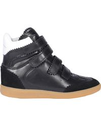 Isabel Marant Bilsy High-top Strapped Trainers - Black