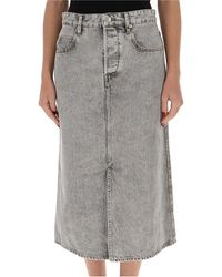 Étoile Isabel Marant Laurina Denim Skirt - Grey