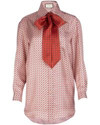 Gucci Pussy Bow Shirt - Red