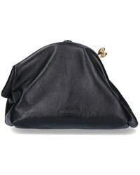 Jil Sander Logo Clutch Bag - Black