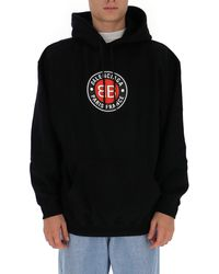 Balenciaga Logo Print Hoodie - Black