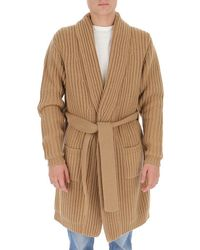 Dolce & Gabbana Belted Cashmere Cardigan - Brown