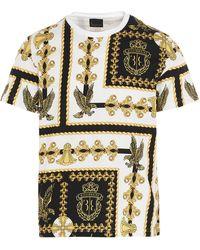 Billionaire Flavio Falcon Print Crewneck T-shirt - Multicolour