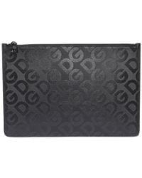 Dolce & Gabbana Monogram Clutch Bag - Black
