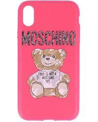 super popolare ff3bc ed6fe Moschino Cover Case Iphone 6 Plus/6s Plus/7 Plus in Red - Lyst