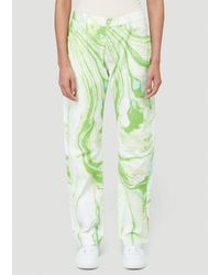 Aries Marble Lilly Jeans - Green