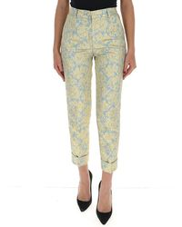 Dolce & Gabbana Floral Jacquard Trousers - Green