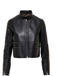 Fendi - Zipper Trim Cropped Jacket - Lyst