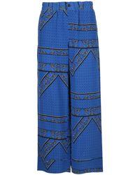 Ganni Bandana Print Wide-leg Trousers - Blue