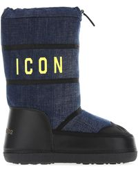 DSquared² Icon Printed Snow Boots - Blue