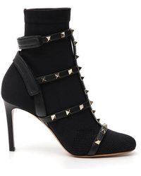 Valentino - Studded Boots - Lyst