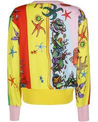 Versace Logo Graphic Print Sweatshirt - Multicolor