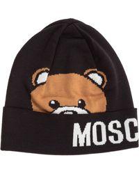 Moschino - Teddy Intarsia Knit Beanie - Lyst