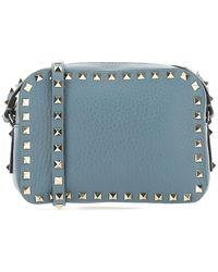 Valentino Garavani Rockstud Crossbody Bag - Blue