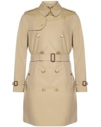 Burberry Kensington Heritage Mid-length Trench Coat - Natural