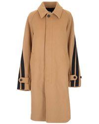 MSGM Camel Long Coat - Multicolour