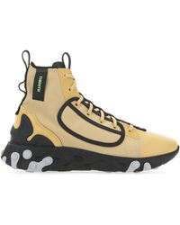 Nike React Langa High Top Lace Up Sneakers - Natural