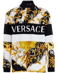 Versace Baroque Print Polo Shirt - Multicolour