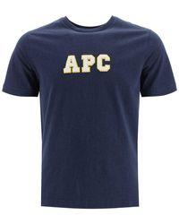 A.P.C. Gael Logo T-shirt - Blue