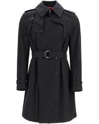 Alexander McQueen Double-breasted Trench Coat - Black