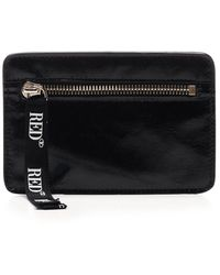 RED Valentino Redvalentino Logo Zipped Wallet - Black