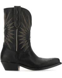 Golden Goose Deluxe Brand Wish Star Cowboy Boots - Black