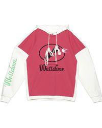 we11done Logo Drawstring Hoodie - Pink