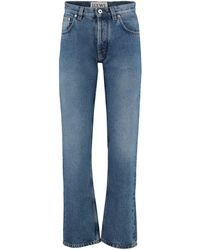 Loewe Floral Embroidery Jeans - Blue