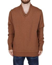 Maison Margiela V-neck Knit Sweater - Brown
