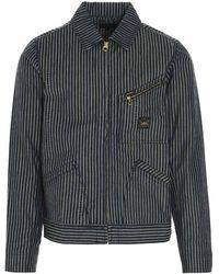 Aries X Lee 191 Striped Jacket - Blue