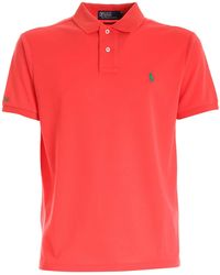 Polo Ralph Lauren Slim-fit Polo Shirt - Red