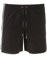 Dolce & Gabbana Logo Swim Shorts - Black